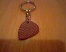 Lacewood Guitar Pick Key Ring