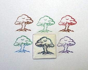 Rubber Stamp, Oak Tree, Hand Made, Woodland Design