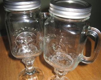 mason jar wine glass or beer mug