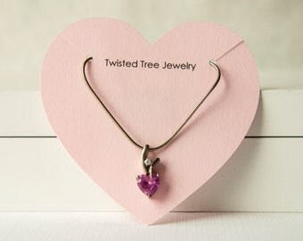 Custom Heart Necklace Cards With Your Shop Name Or Logo- Many Colors Avaialble