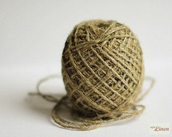 Linen Twine Natural 87 yards, 3 mm / Linen Rope Natural / Linen Cord Natural / 1 spool / Linen String Natural