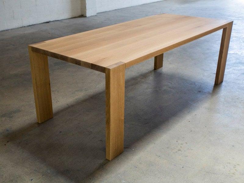 The morrison white oak dining table