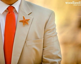 Boutonnieres Starfish- beach wedding
