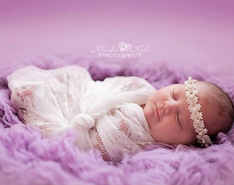 Lace   baby wrap ,blanket ,Newborn Photography Props - Baby  cocoon- baby lace prop