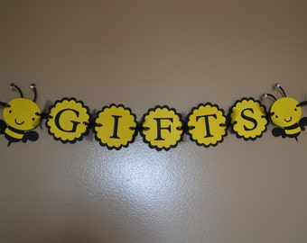 Bee Baby Shower or Birthday Party GIFTS Banner - Mommy to bee