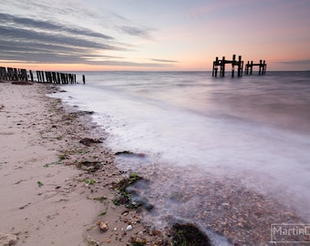 Sunrise on the 70th anniversary of D-Day, Lepe New Forest - Landscape photography - mounted print photograph 12 x 9