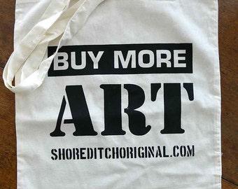 Buy More Art Cotton Tote Bag