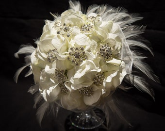 Custom Made Off-White Brooch Bouquet