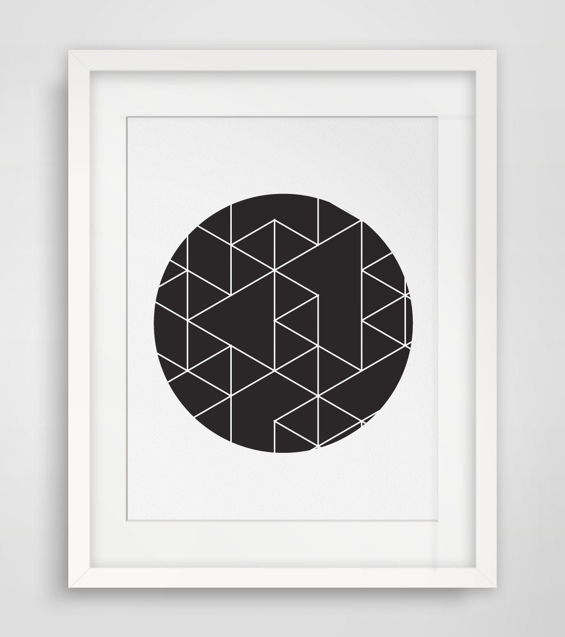 Geometric print minimalist poster art poster by for Minimal art wall
