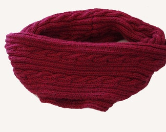 Pattern scarf knitted cowl braids