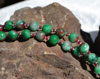 Ruby Necklace with Ruby Zoisite  (JK 591)