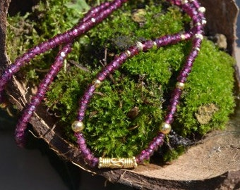 Rhodolite Necklace (Garnet Family)  (JK572)