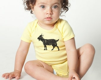 GOAT print, American Apparel BABY Lap T-shirt or Onesie, 3-24 mos