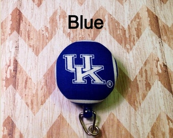 University of Kentucky fabric retractable badge reel