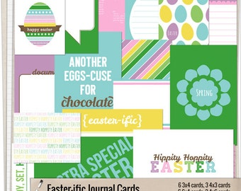 Easter-ific Journaling Cards - Printable journaling cards for Project Life and digital scrapbooking by Mira Designs