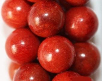 """Sponge Coral Beads - Round 10 mm Gemstone Beads - Full Strand 16"""", 40 beads"""