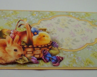 Egg wallet etsy handmade money gift card wallet for easter with bunny chick and easter egg negle Choice Image