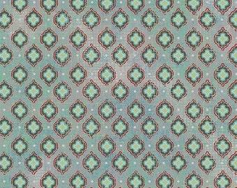CLEARANCE - Chamberry Quatra Dot Aqua from ADORNit, 1/2 YARD
