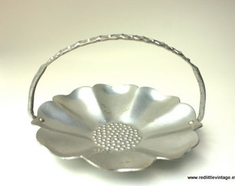 Metal Ring Dish, Vintage Brides Gift, Jewelry Dish, Brides Gift, Ring Dish, Aluminum, Gifts for Brides, Ring Holder, Farber and Shlevin