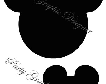 Head silhouettes Mickey Mouse Disney