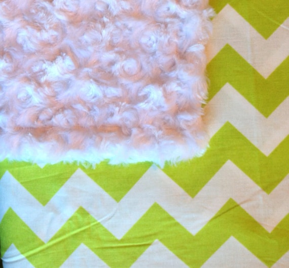 adult size minky blanket throw lap quilt bedding lime