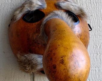 Gourd - Native American  Cherokee Booger Mask