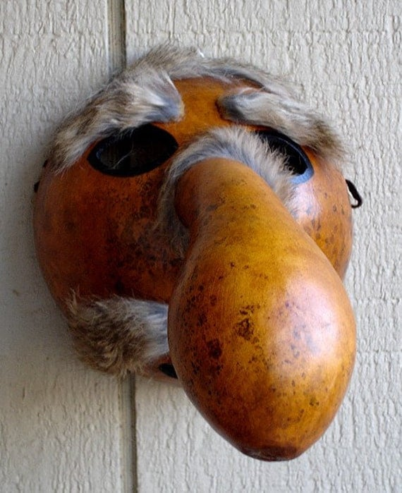 Gourd Native American Cherokee Booger Mask