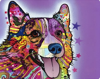 corgi dog dean russo pop art wall decal - Dean Russo