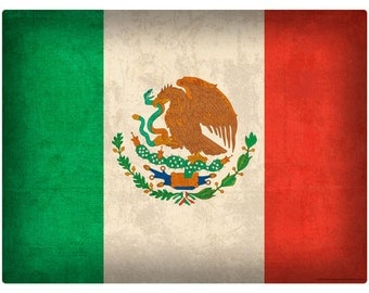 Mexican National Flag Distressed Wall Decal #48299