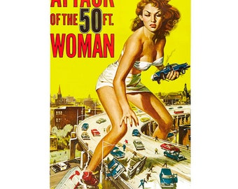 Attack of the 50 ft Woman Movie Wall Decal #48328