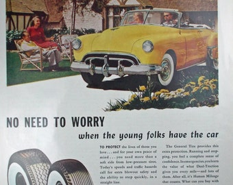 Vintage print ad from 1950 for The General Tire