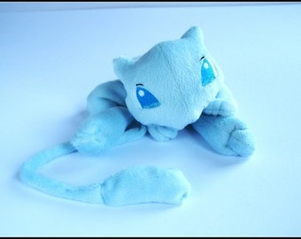 Mew Blue - Pokemon - Handmade Pocket Plush