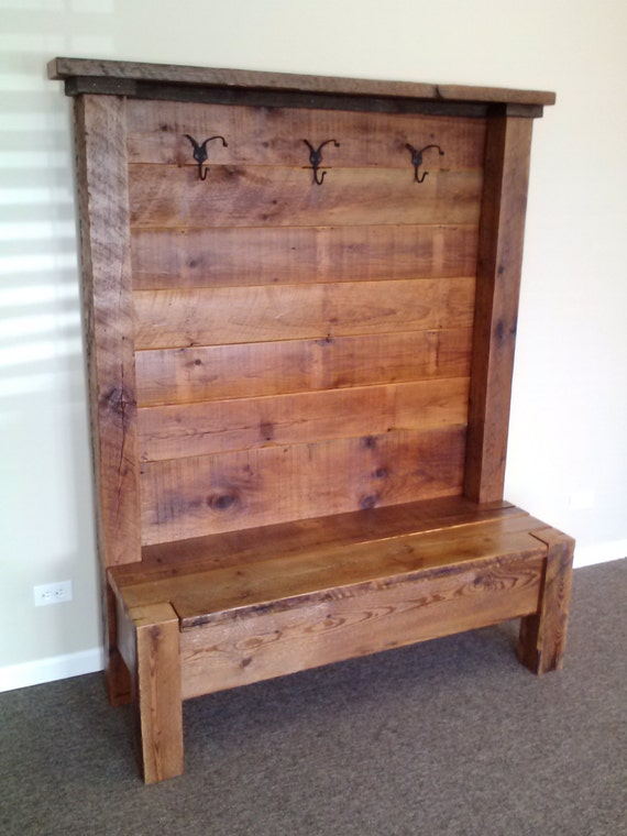 Items Similar To Reclaimed Barn Wood Entry Bench 54 L X 72 H X 18 D Custom Sizes Available