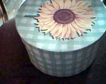 Sunflower Hat Box