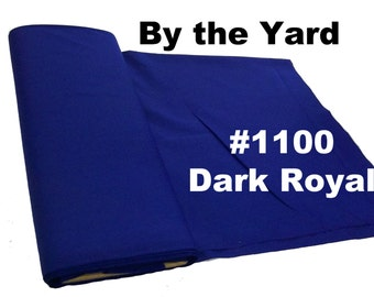 "45"" Royal Blue Broadcloth Fabric - By The Yard"