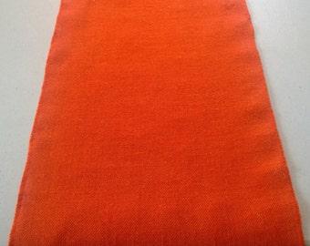 "14"" x 72"" Tangerine Burlap Table Runner (Serged edges)"