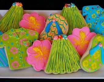 Hawaii Themed Sugar Cookies