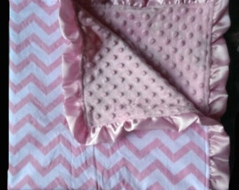 Light Pink Chevron Blanket