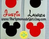 Personalized Mickey DECAL, Mickey Sticker, Birthday Party Favor, DIY Party Favor, Minnie Party Favor, DIY Minnie Birthday