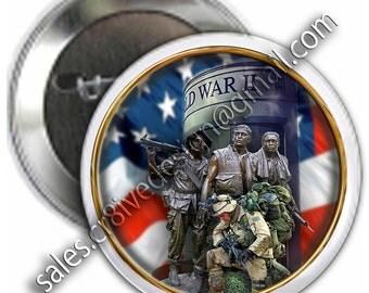 Veterans  2.25 inch  button