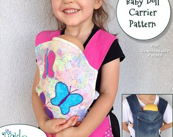 Baby Doll Carrier Pattern with Nylon Adjustable Straps for You to Make PDF Pattern