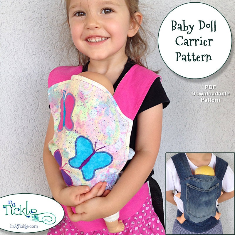 Baby doll carrier pattern with nylon adjustable by inatickle