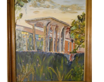 Painting byPratt an Architectural Landscape Mixed Media