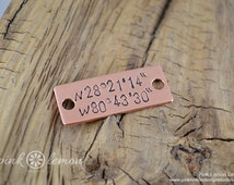Marathon Jewelry - Running Jewelry -  Latitude Longitude Jewelry - Running Tags for Shoes - Ultras, 26.2, 13.1, 5k, 3.1 - Brushed Copper