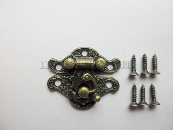wholesale 100Pcs 23mmX28mm antique Brass Jewelry Box Staple Hasp
