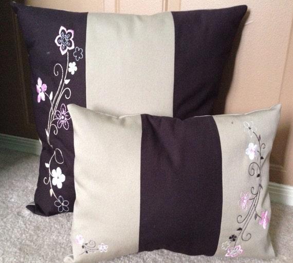 Red Tan And Brown Throw Pillows : Brown tan and pink throw pillow set