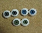 16 mm Glass Doll Eyes - Paperweight - Choose One Pair Green or Violet/Grey for dollmaking Porcelain or BJD dolly