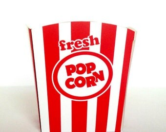 Popcorn box template  Etsy