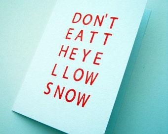 Hand Stamped Card Frank Zappa Lyrics