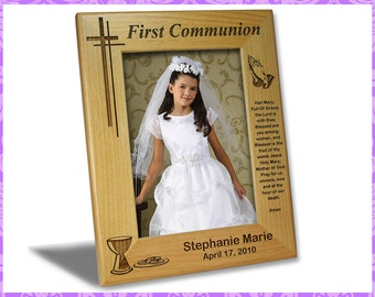 5x7 Personalized Custom Engraved First Communion Picture Frame
